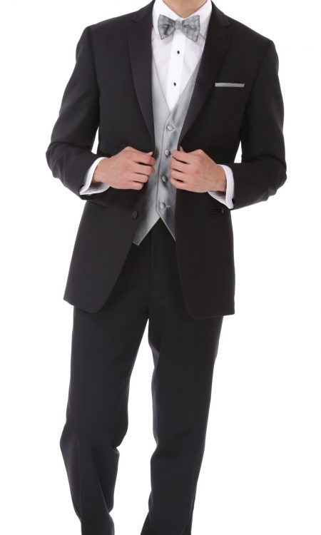 Perry Elis – Black Tie Fitted Tuxedo
