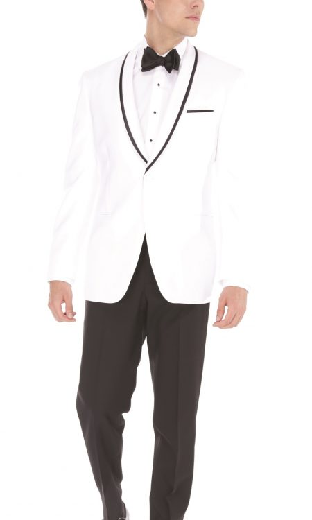 Ike Behar – White Waverly Tuxedo