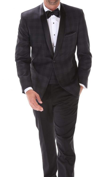 Ike Behar – Plaid Chester Tuxedo