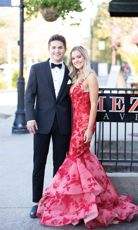 279M Diamond Weave with Red Dress Prom IMG_3253