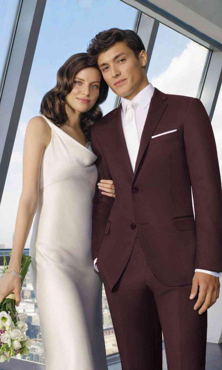 281M Burgundy Suit 8545C-45